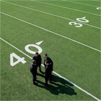 Business in Football Field