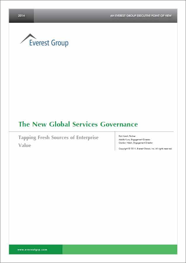 The New Global Services Governance