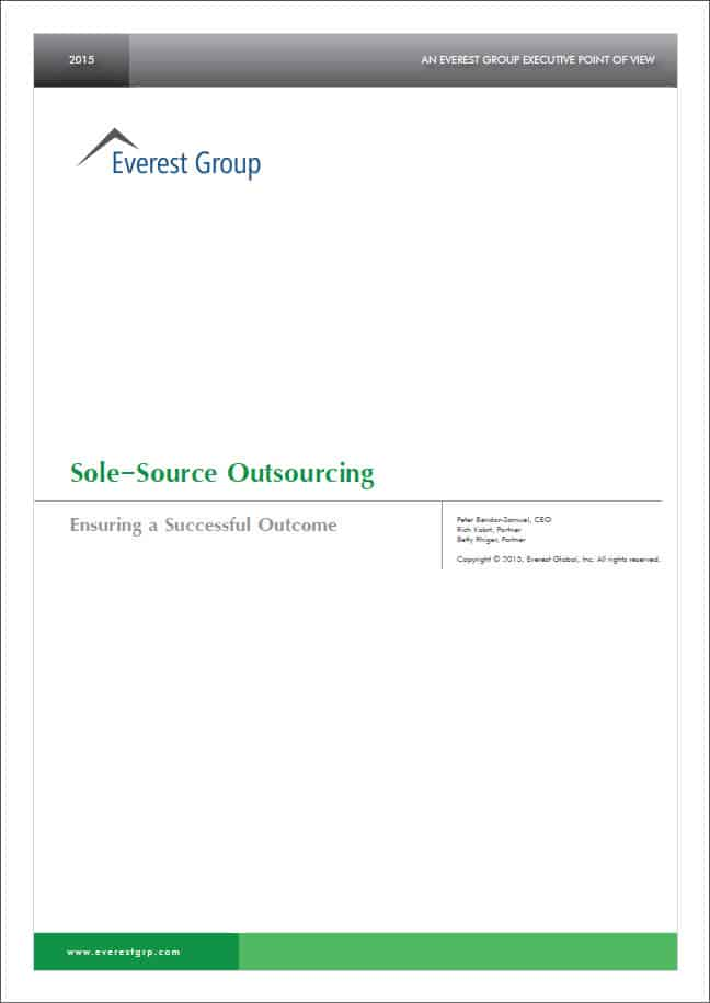 Sole-Source Outsourcing