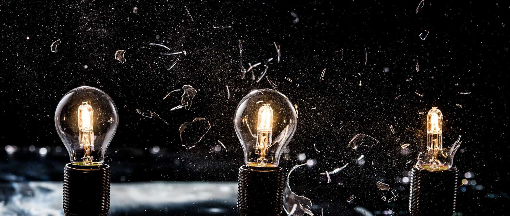 lightbulbs shattering