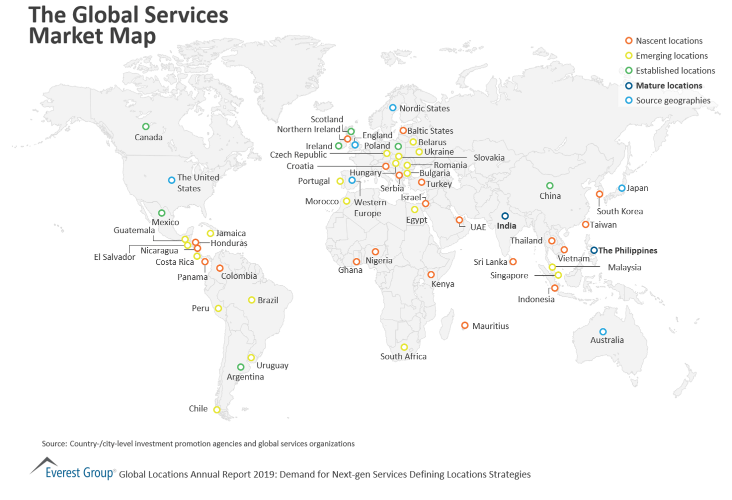 The Global Services Market Map