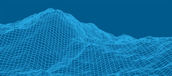 Wireframe low mountain