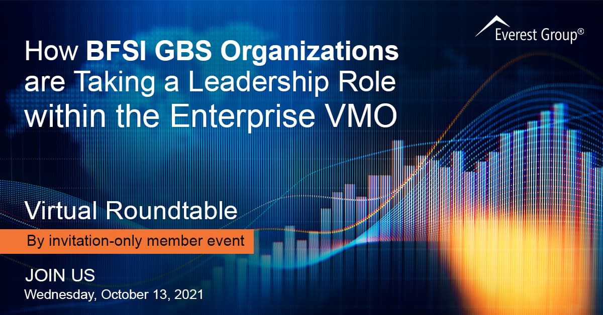 How BFSI GBS Organizations are Taking a Leadership Role within the Enterprise VMO